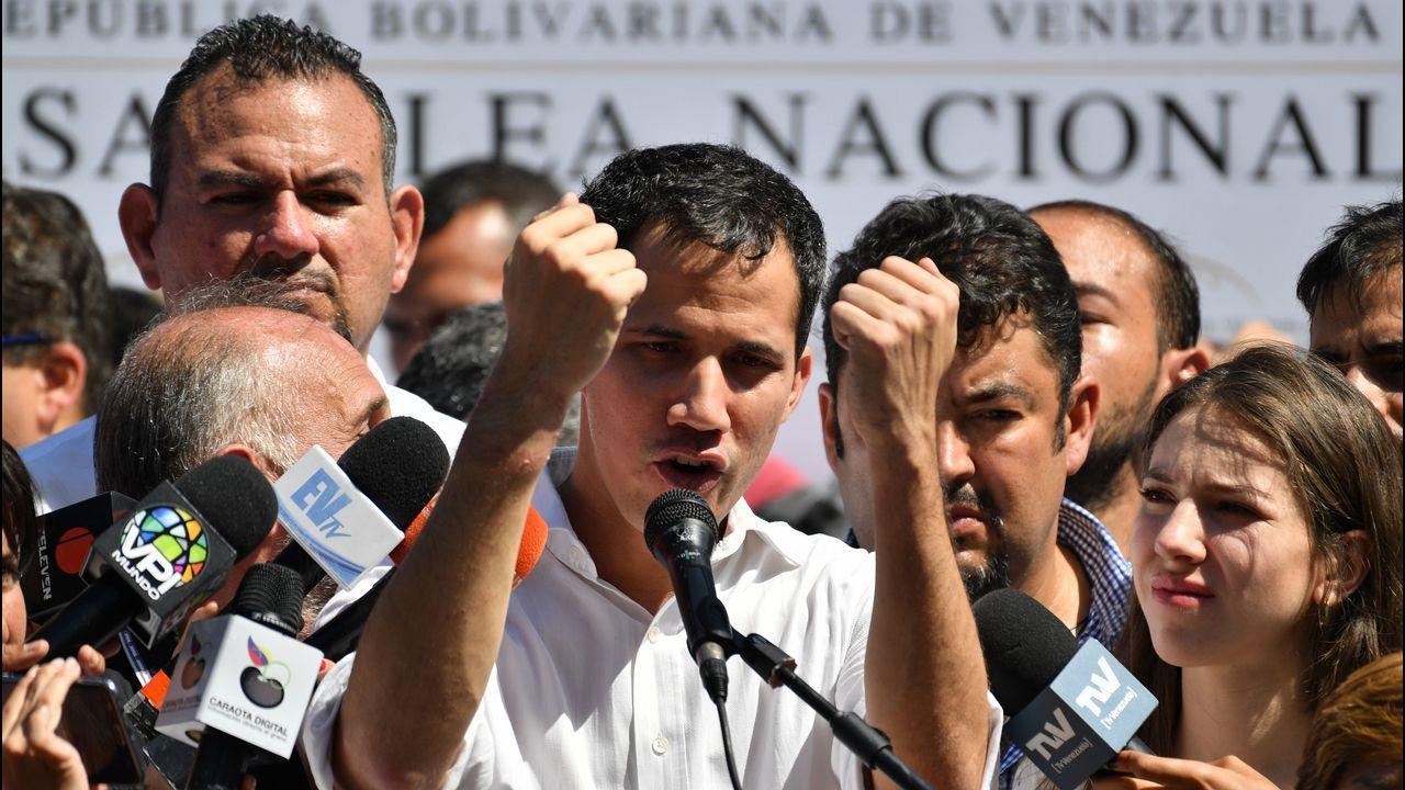 Pasan a disposición los detenidos por el alijo de droga del año.Guaidó aseguró que su breve detención muestra la  desesperacion  del Gobierno venezolano