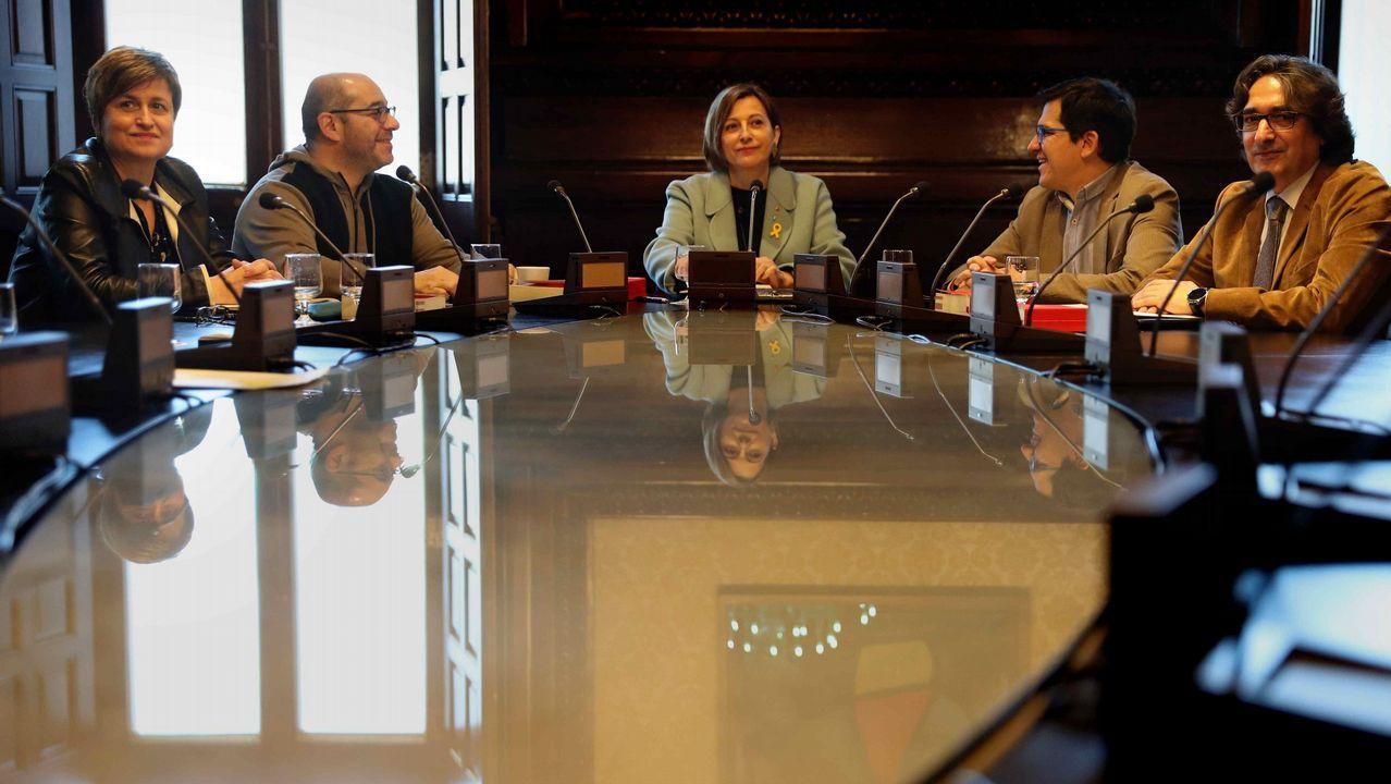 Roger Torrent: «Propongo al diputado Carles Puigdemont como candidato a la presidencia de la Generalitat».Esta mañana se celebró la última Mesa de la Diputación Permanente del Parlament presidida por Carme Forcadell