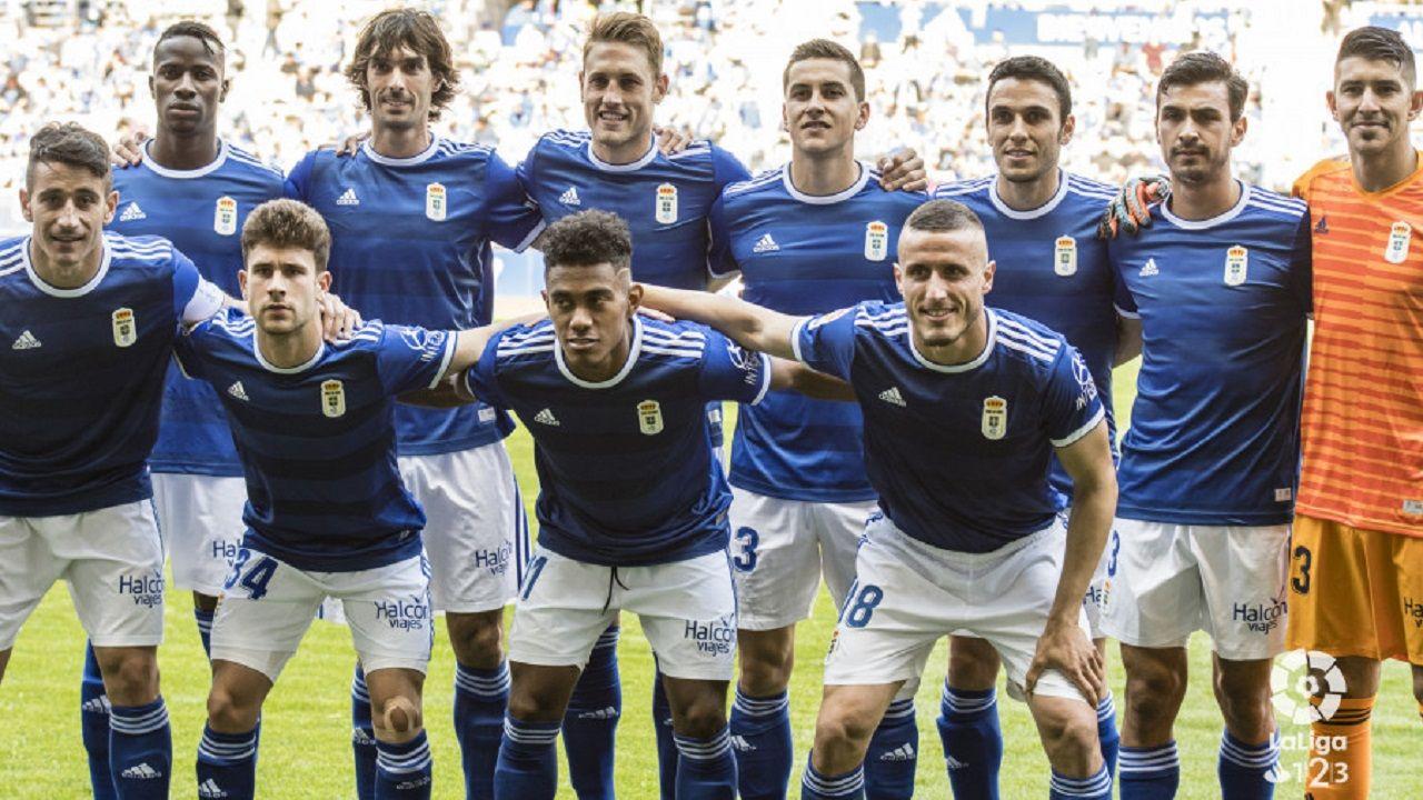 Once inicial del Real Oviedo ante el Córdoba