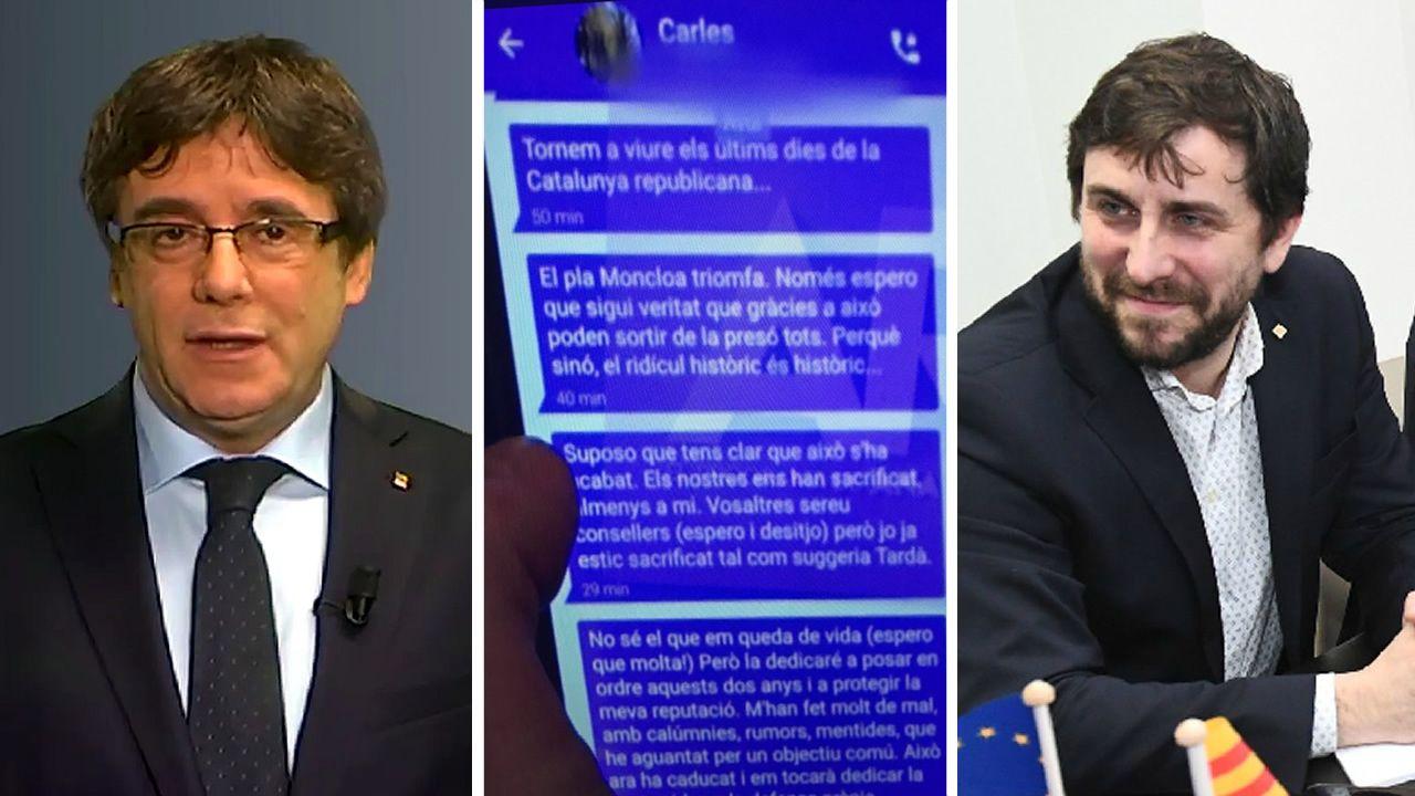 .Puigdemont, Comin y los mensajes que intercambiaron