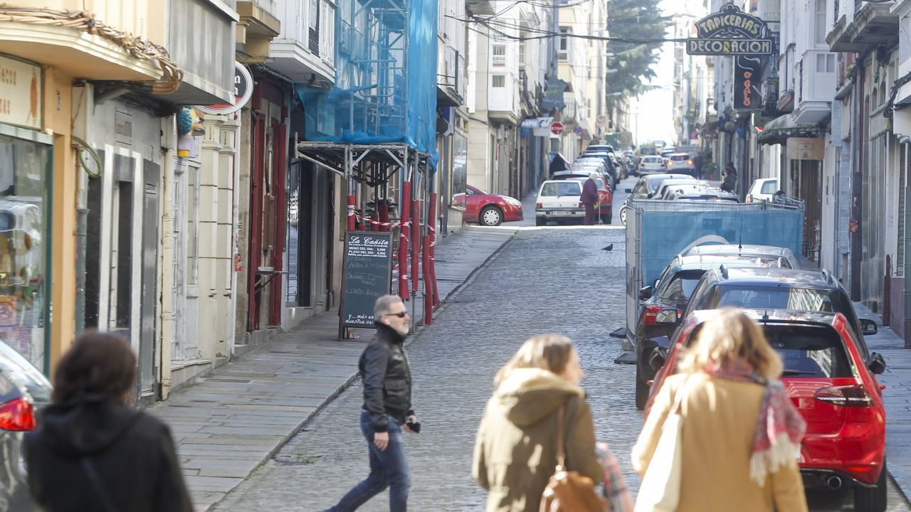 El sueño cumplido de Rober.El tramo de la calle María que se peatonalizará de forma permanente es el situado entre Tierra y Concepción Arenal