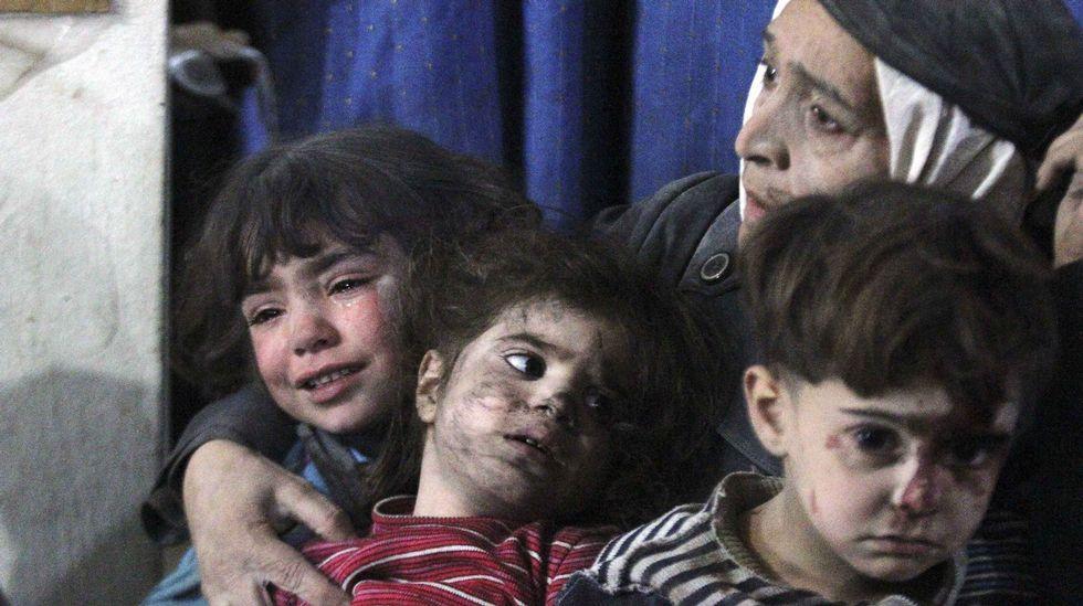 El dolor de los bombardeos en Siria.El presidente de Siria Bashar-al-Assad