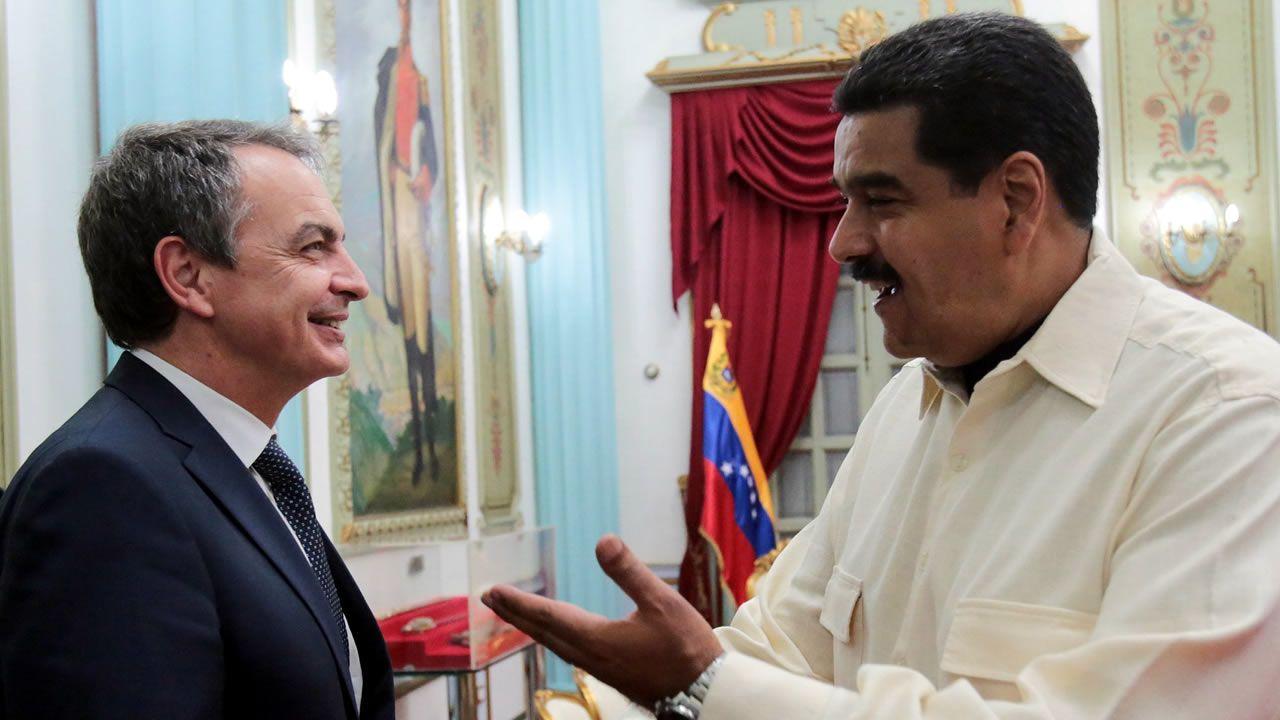 .Zapatero y Maduro, en uno de sus encuentros