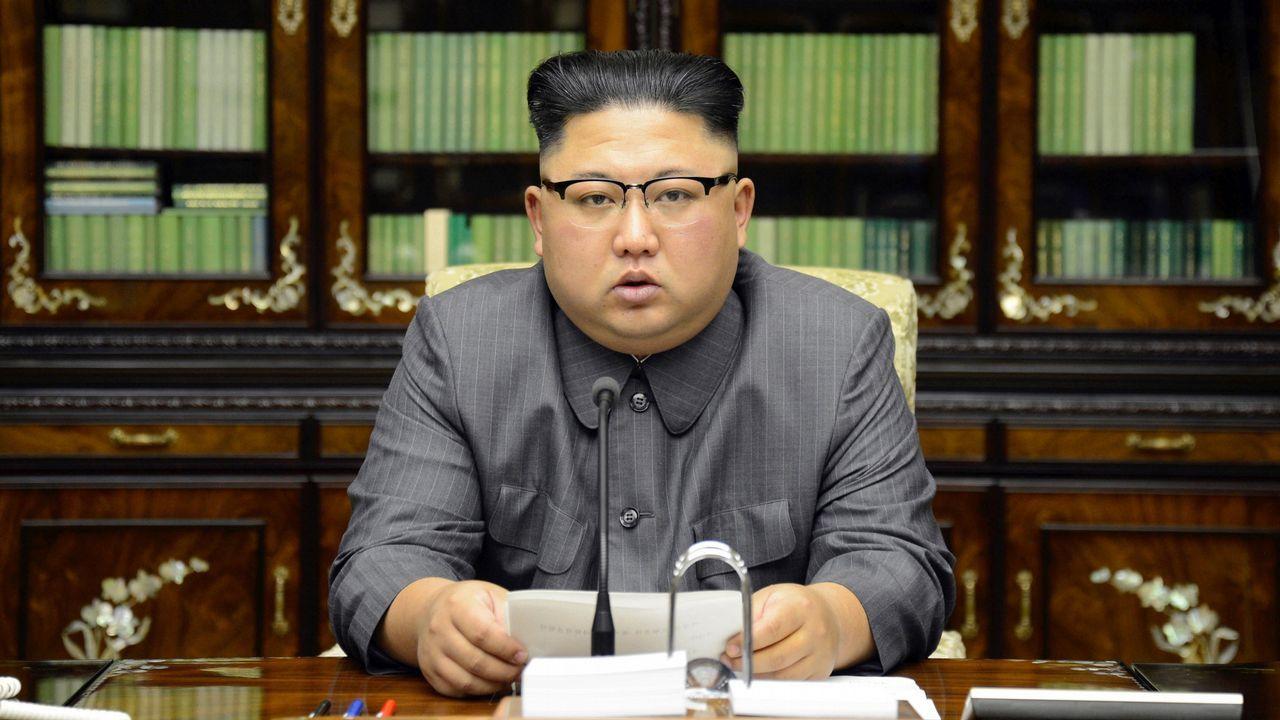 Kim Jong-Un promete «domesticar con fuego» a Donald Trump.Bandera de Corea del Norte