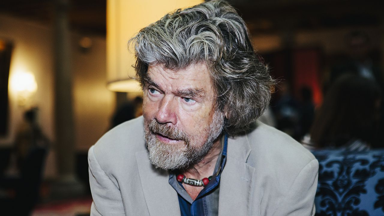 Reinhold Messner en el Hotel de la Reconquista de Oviedo