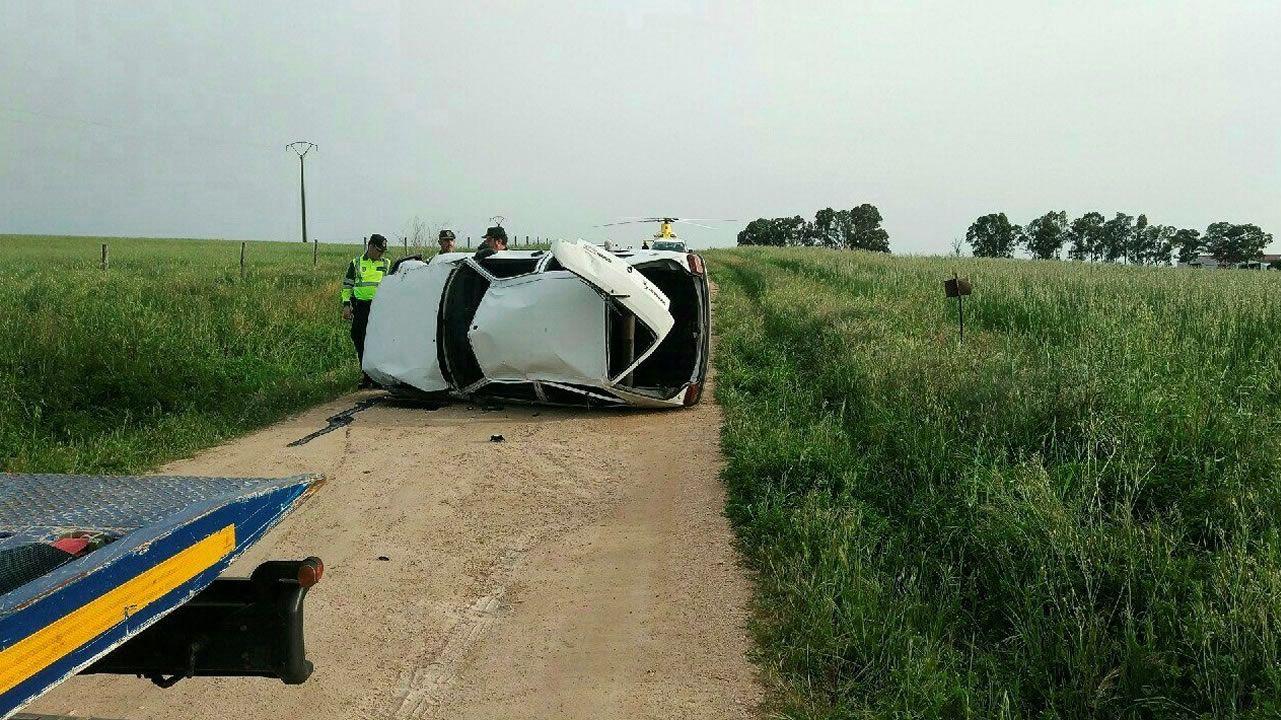 Solo el conductor del accidente de Villar del Rey llevaba cinturón.