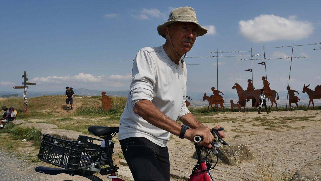 .Pedro Luis ha elegido la bici para hacer el Camino