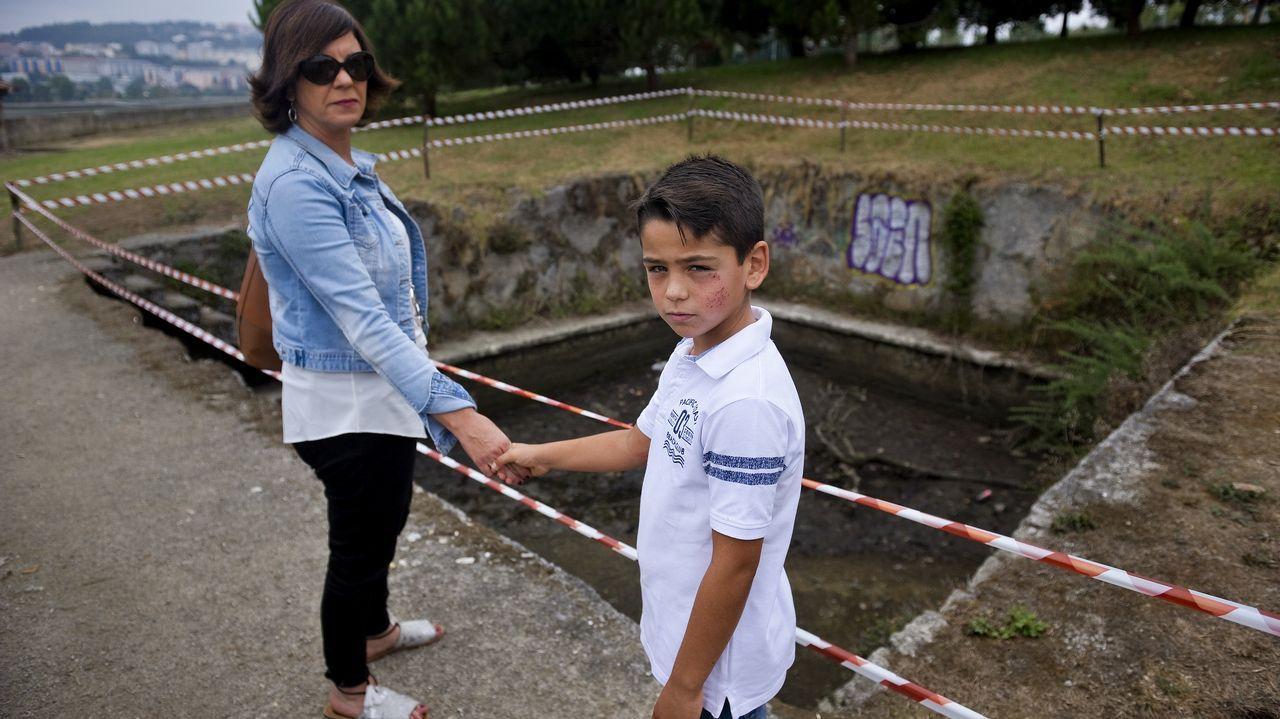 Así es el antiguo embarcadero de O Seixo (Oleiros) donde se produjeron las caídas de un hombre y la de un niño.