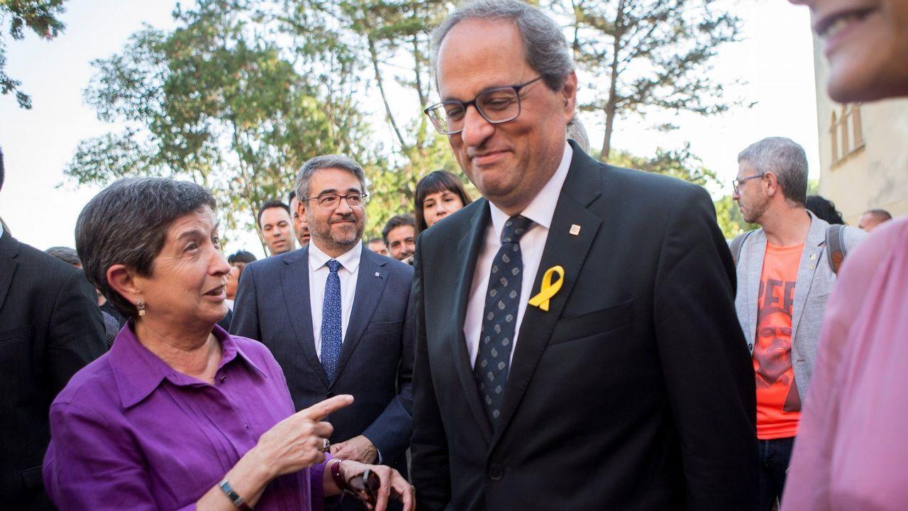 .La delegada del Gobierno, Teresa Cunillera, junto al presidente de la Generalitat, Quim Torra