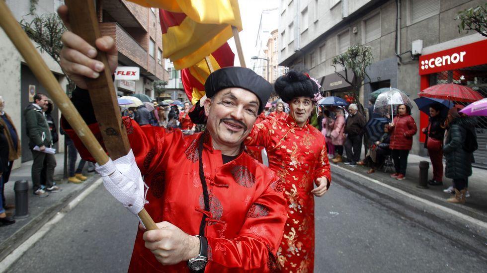El dragón de la comparsa Año Nuevo Chino