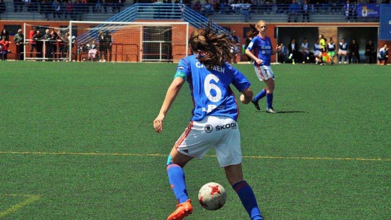 .Carmen Fernández en un partido de esta temporada