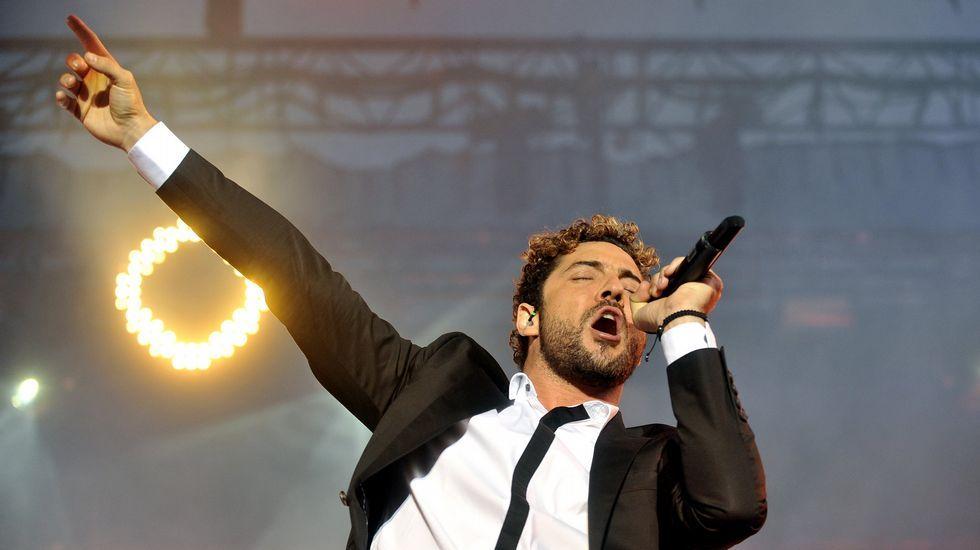 David Bisbal, en un concierto en Ferrol el año pasado