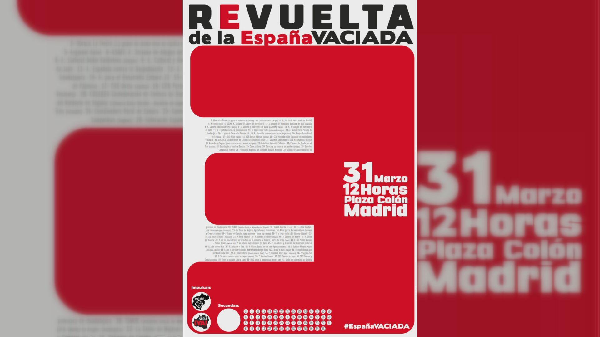 Cartel de la manifestación convocada para mañana en Madrid