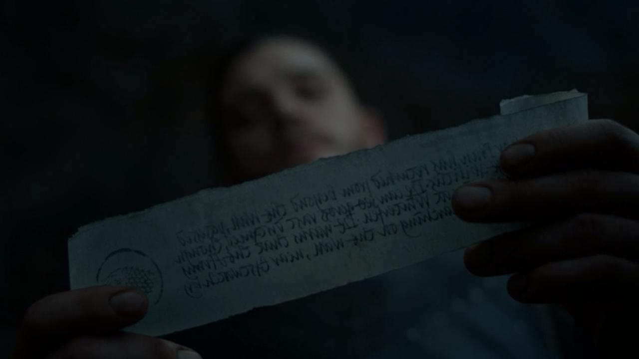 Mensaje para Jon Nieve en el episodio 7x05 de Juego de Tronos