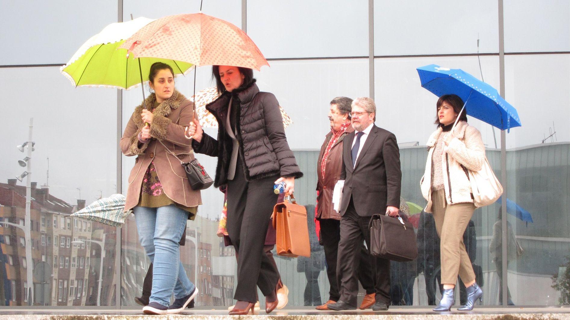 Salida del juicio por el parricidio de Monteana en la sede de Gijón de la Audiencia Provincial de Asturias.Salida del juicio por el parricidio de Monteana en la sede de Gijón de la Audiencia Provincial de Asturias