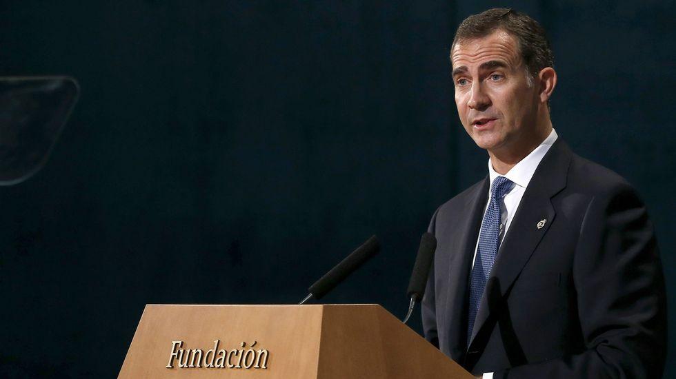 Felipe VI sobre la independencia de Cataluña: «Que nadie construya muros con los sentimientos».