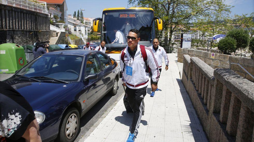 La selección de Venezuela ya está en Galicia.Imagen de archivo de un partido en A Estrada del Irmandinhos.