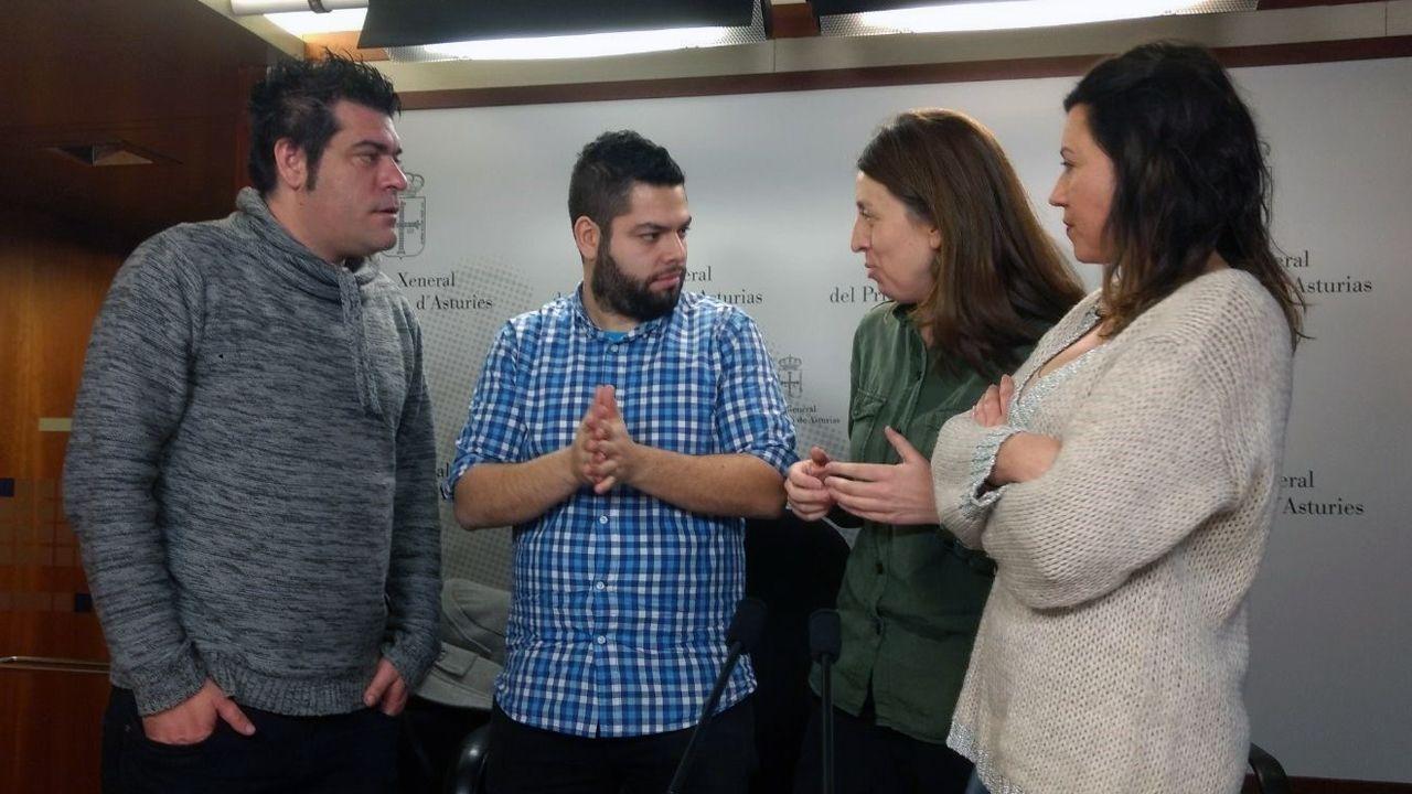 David Salcines, Rubén Rosón, Lorena Gil y Nuria Rodríguez