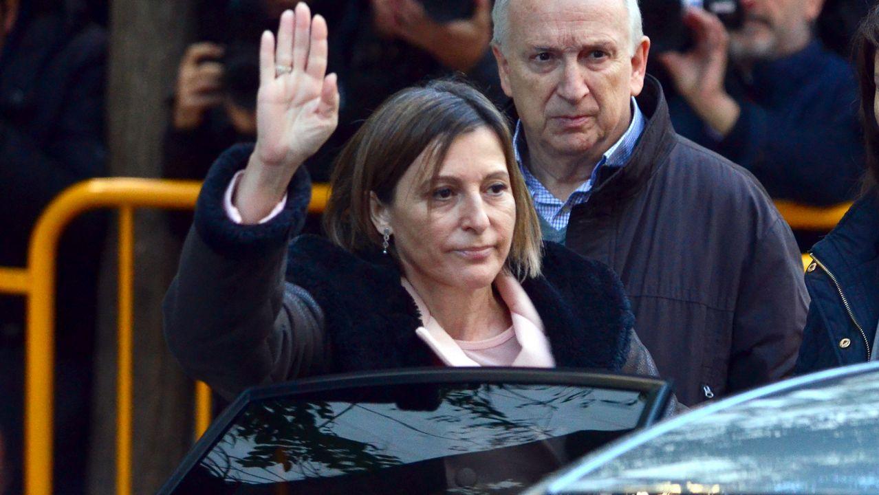 Forcadell, increpada en su llegada al Tribunal Supremo.