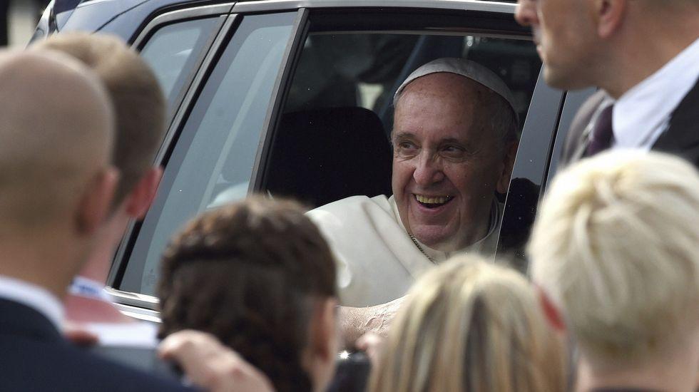 Locura en Polonia por el papa Francisco