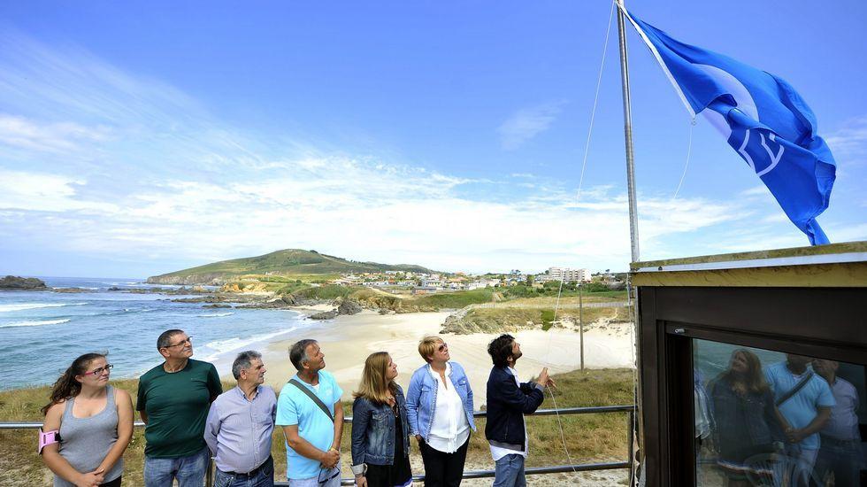 Playa de Retorta, en Boiro.Playa de A Fragata, en Ferrol