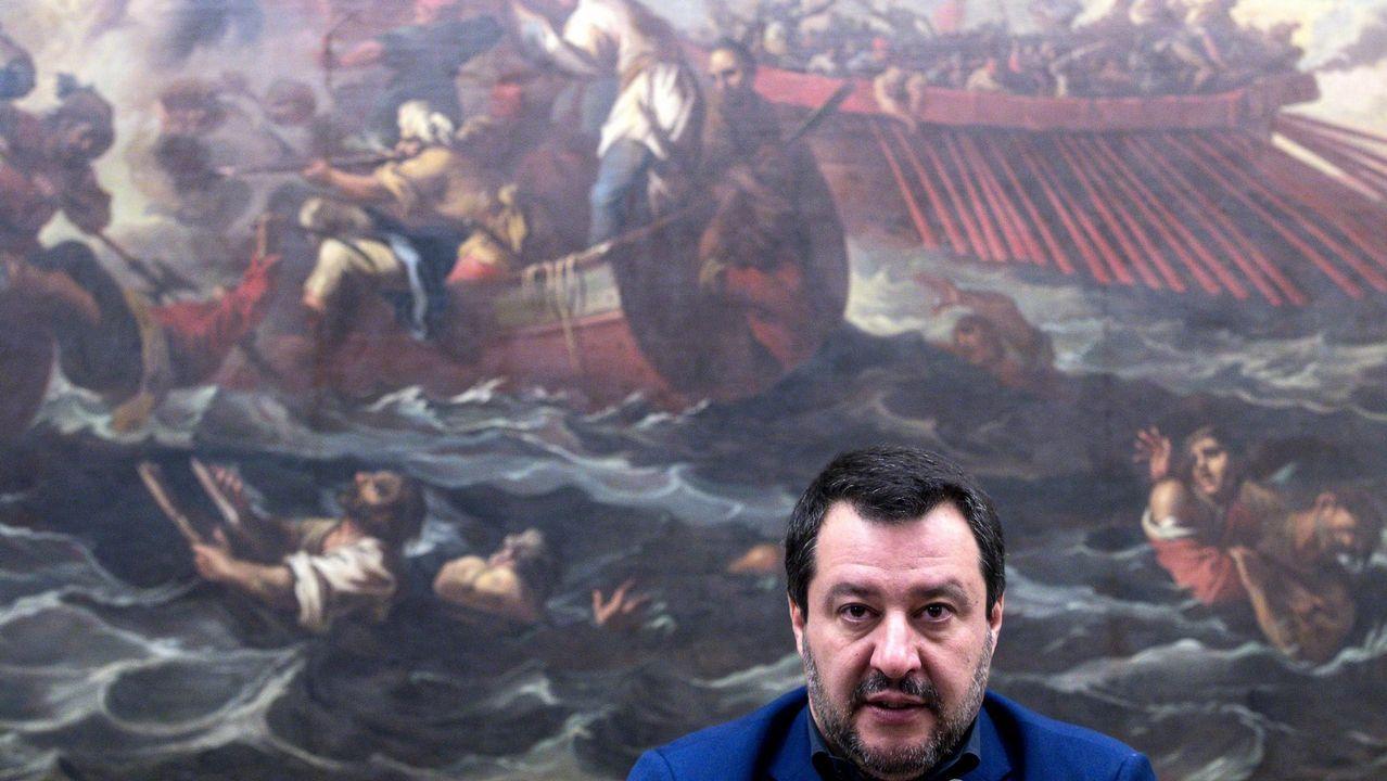 Salvini esperará a los resultados de las europeas de mayo para defenestrar a sus socios. A. CARCONI Efe
