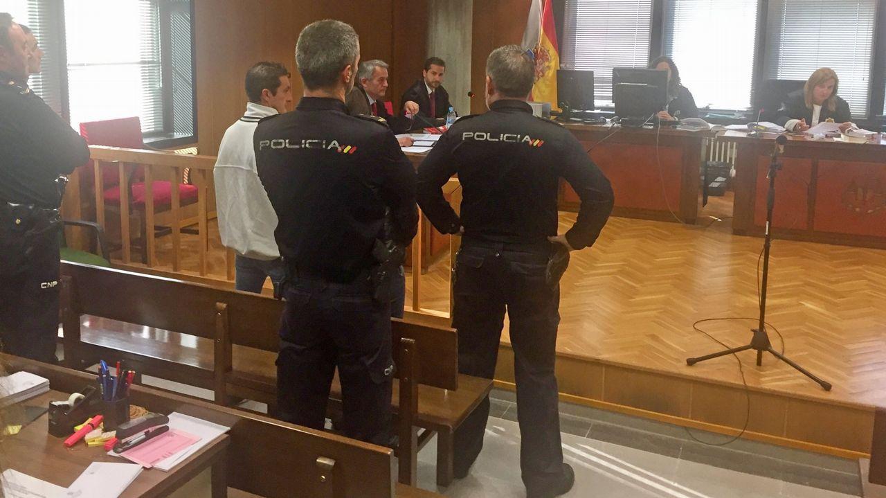 Imagen de archivo de una comparecencia de apoyo a Miguel Rosendo