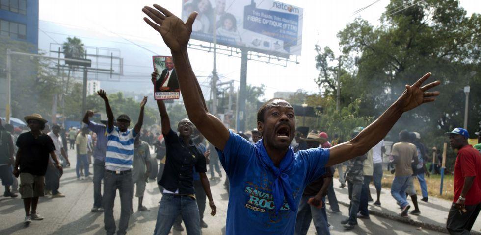 Las protestas contra el Gobierno de Michel Martelly se han repetido en los últimos días por las calles de Puerto Príncipe.