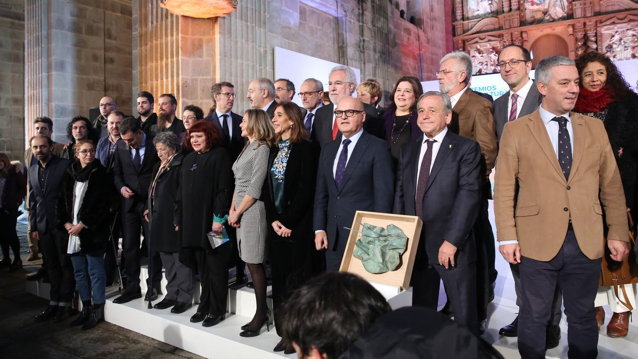 O mosteiro de Montederramo acolleu a entrega dos premios da Cultura Galega