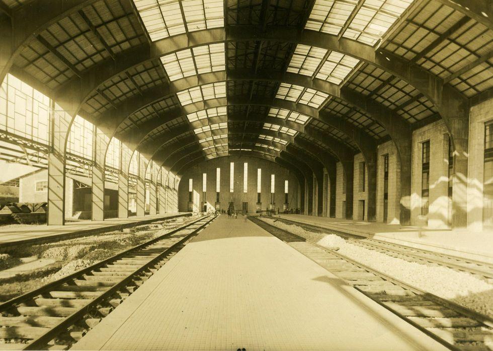 La estación de trenes de San Cristóbal se empezó a construir en 1939.