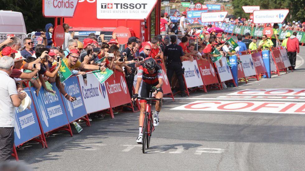La llegada de la etapa de La Vuelta a Luíntra