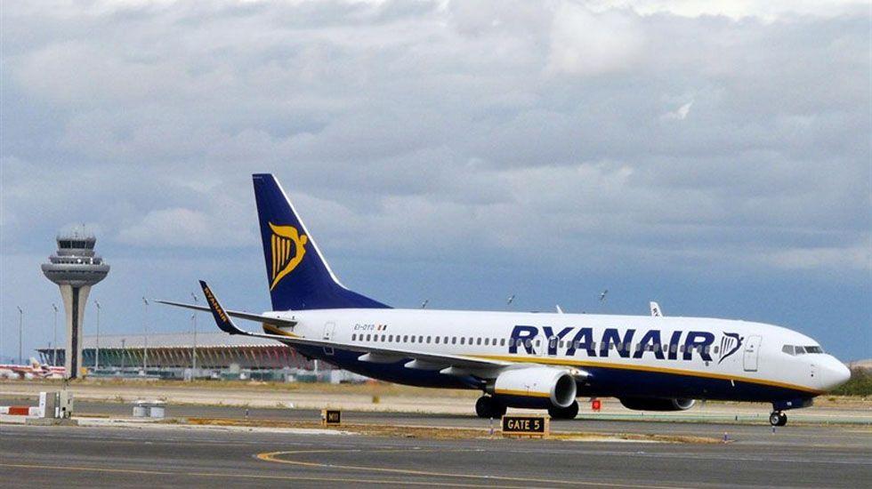 Avión de Ryanair.Avión de Ryanair