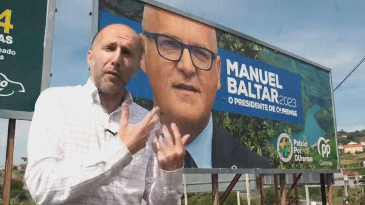 Imagen del vídeo que grabó Jácome criticando a José Manuel Baltar. Ahora no cierra la puerta a un pacto para sostener al líder popular en la diputación