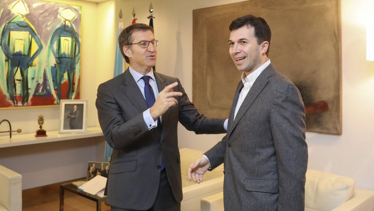 oleiros gelo.El presidente de la Xunta, Alberto Núñez Feijoo, con el secretario general del PSdeG, Gonzalo Caballero