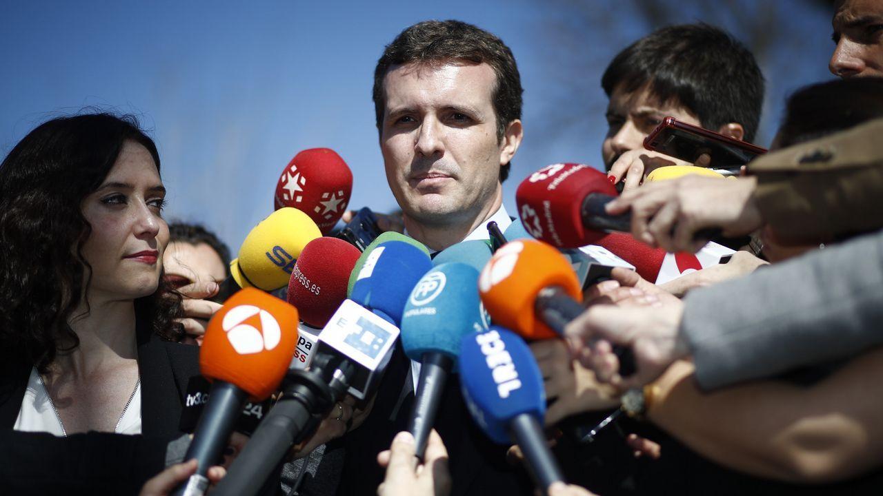 El soberanismo se manifiesta por las calles de Madrid.Presentación en Madrid de los cabeza de lista del PP para el 28A