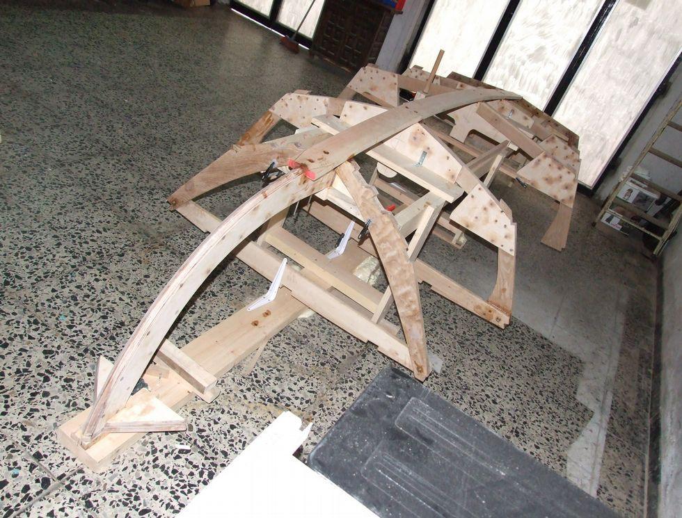 Trabajos de los alumnos de la escuela Mestre Mateo, que serán expuestos en la tienda Ikea.Los alumnos elaboraron los cojines con los tejidos de Ikea