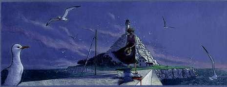 A célebre imaxe que Miguelanxo Prado empregou na capa do seu emblemático álbum «Trazo de xiz» forma parte da exposición.