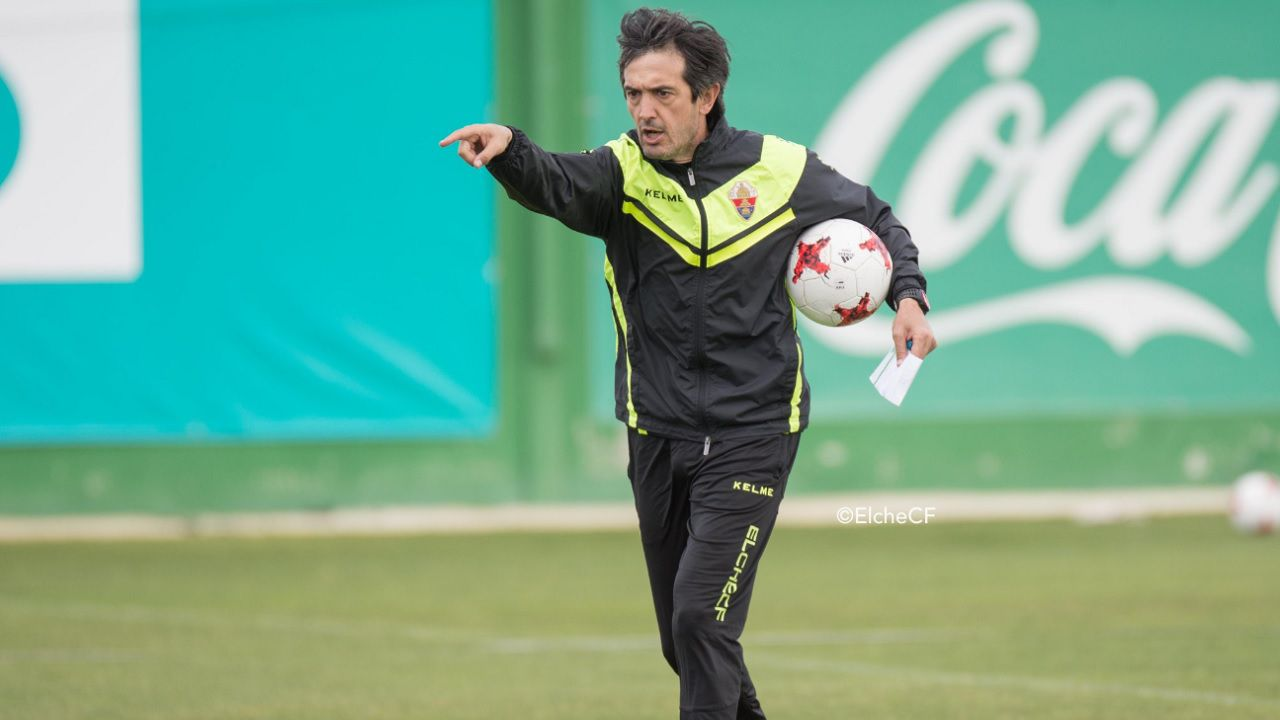 Pacheta Elche.Pardo celebra su gol frente al Cartagena