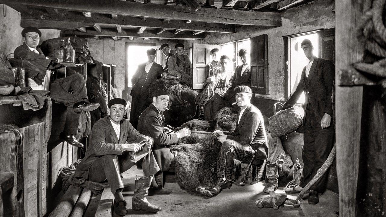 Pescadores en Cudillero