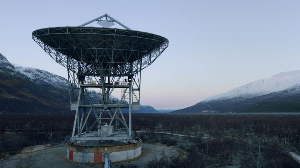 .El mensaje fue enviado desde esta antena de 32 m de diámetro situada en Noruega
