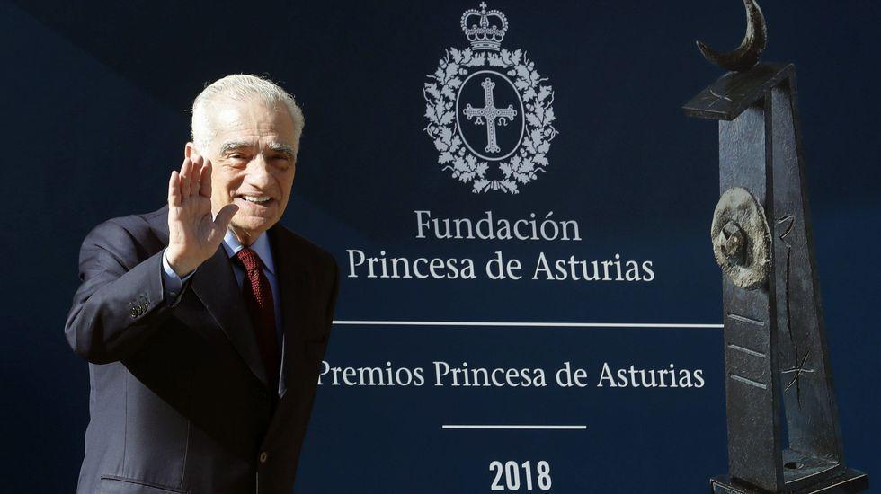Los reyes posan con los premiados en los Premios Princesa de Asturias.El cineasta estadounidense Martin Scorsese, en Oviedo, donde recibirá el Premio Princesa de Asturias de las Artes