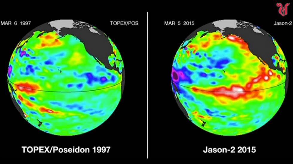 El Niño está provocando un caos climático mundial.Las nubes de estancamiento impiden que en zonas como Foz pase la radiación solar. A Ourense, este aire llega ya recalentado