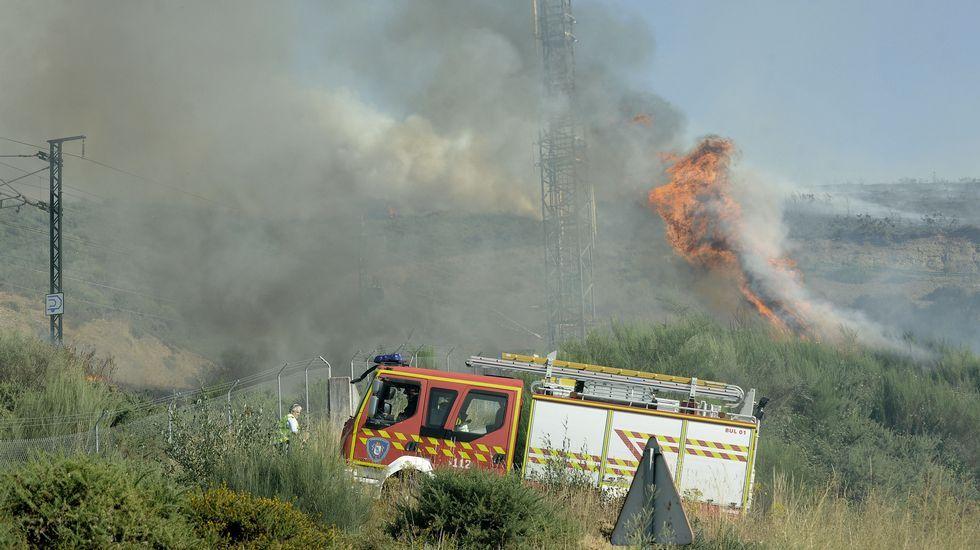 Incendio en Lalín