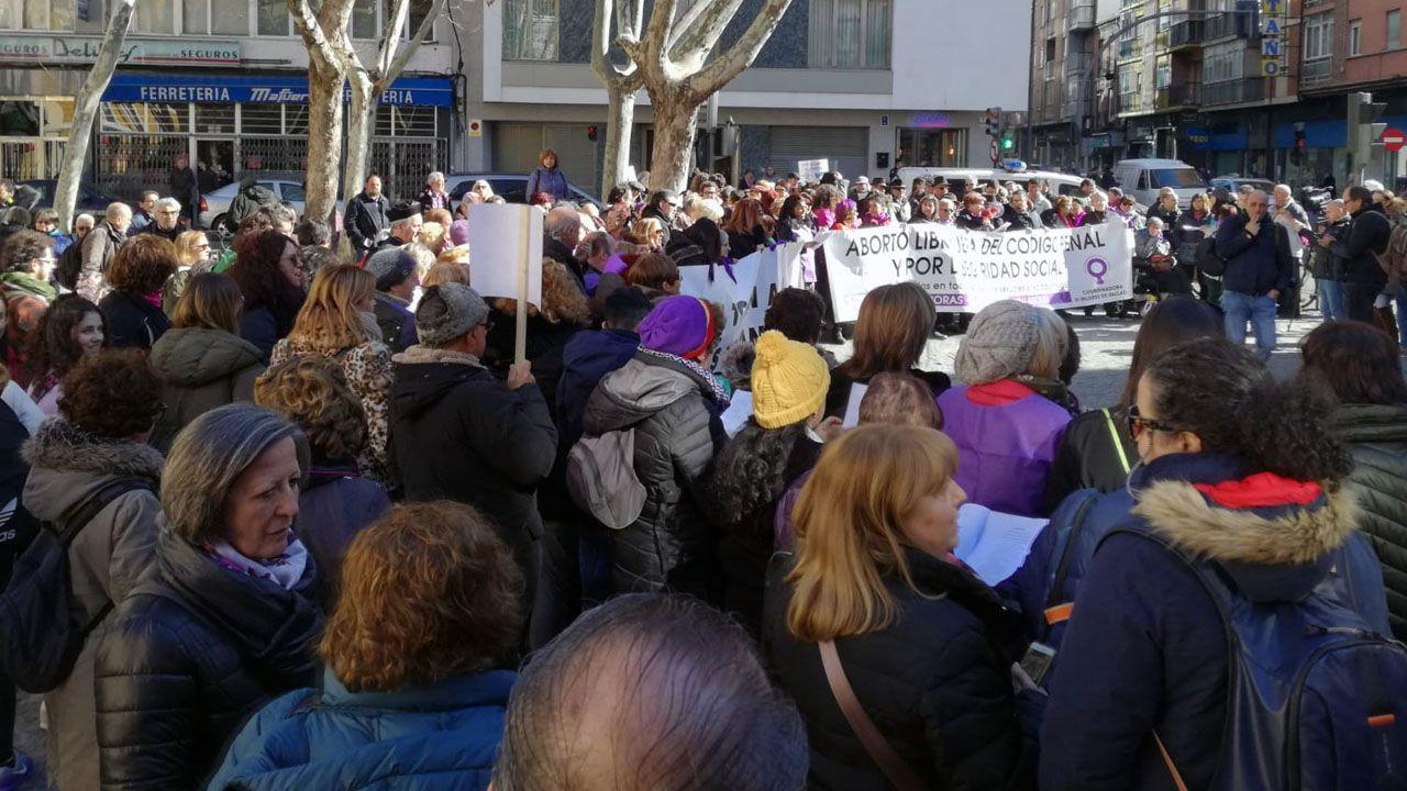 Concentración en apoyo a Blanca Cañedo, a las puertas de los juzgados de Valladolid