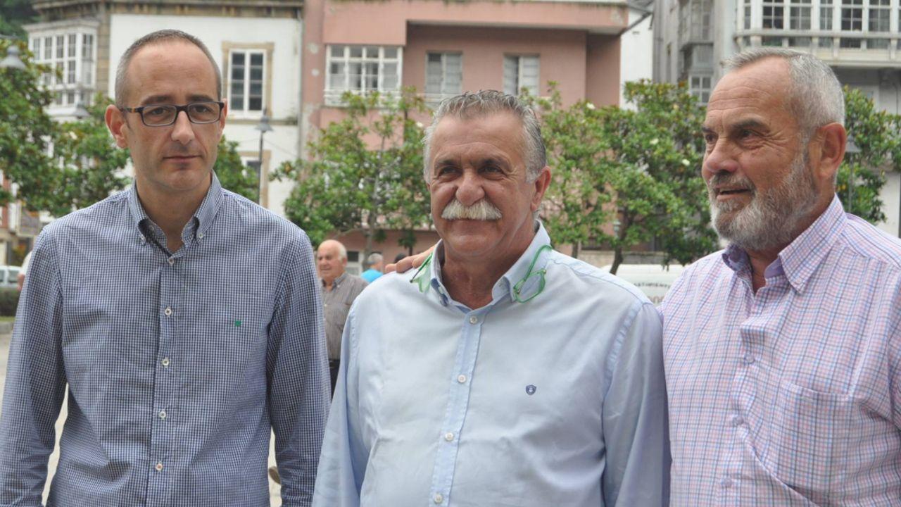 Manifestación convocada por la asociación Jusapol por la equiparación salarial de los policías.Carlos López, José Modesto Vallejo y Ramón Fernández
