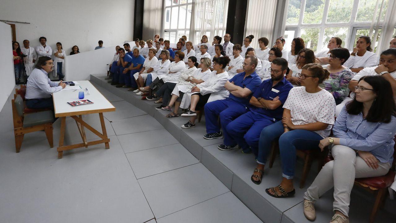 Isabel González: «Dejo el camino abierto para otras madres».Aula lúdica de A Laracha