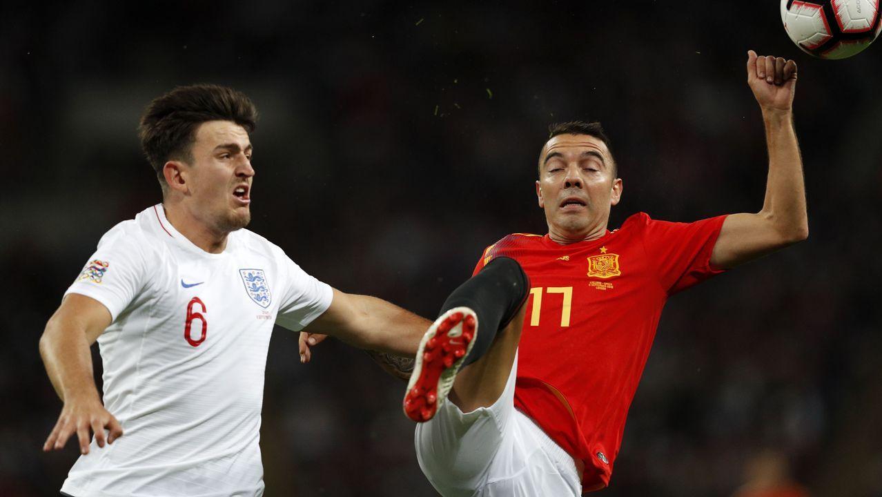 Iago Aspas, titular con España ante Inglaterra.