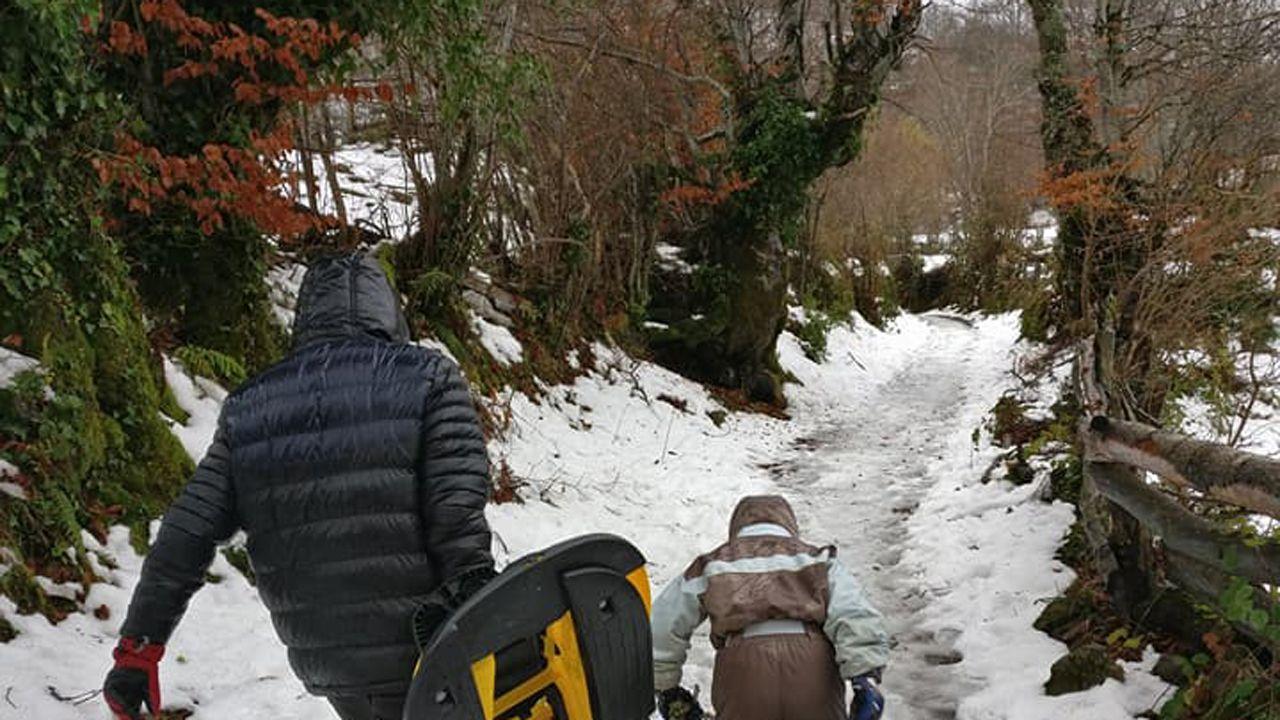 Camino hacia la nieve