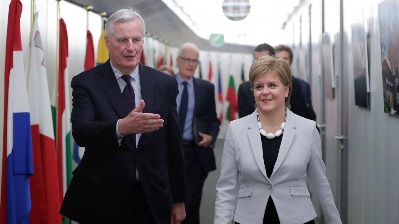 Barnier recibió a Nicola Sturgeon en el cuartel general de la Comisión Europea