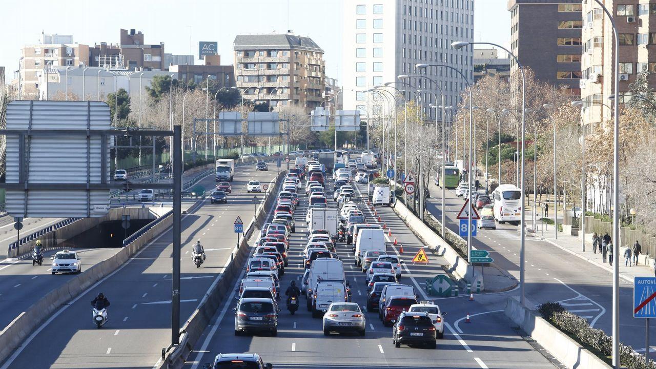 Uno de los accesos al centro de Madrid, en una imagen de archivo